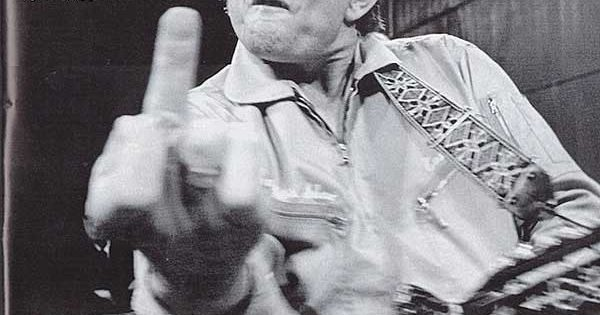 555ff9617a Johnny Cash's Famous Middle Finger | Saving Country Music