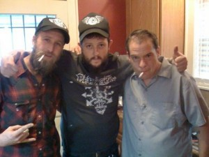 "Bob Wayne, Wayne Hancock, & Zach Shedd (Hank III bass player) recording ""Everything's Legal in Alabama"""