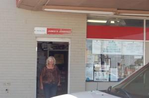 Waylon's sister-in-law Helen Jennings tending shop