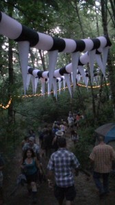 "Path to Pickathon's famed ""Woods Stage"""