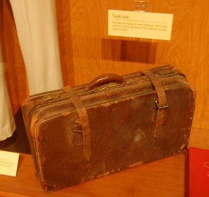 Hank Williams briefcase at display in the Country Music Hall of Fame, where some of the 'Lost Notebooks' were found.