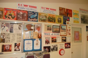 "Don's ""Wall of Fame"" inside his home"