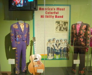 Maddox Brothers & Rose Display at Bakersfield Sound Exhibit; Country Music HOF.