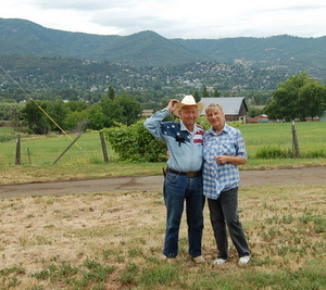 Don Maddox & Wife Barbara on the Ranch in Ashland, OR