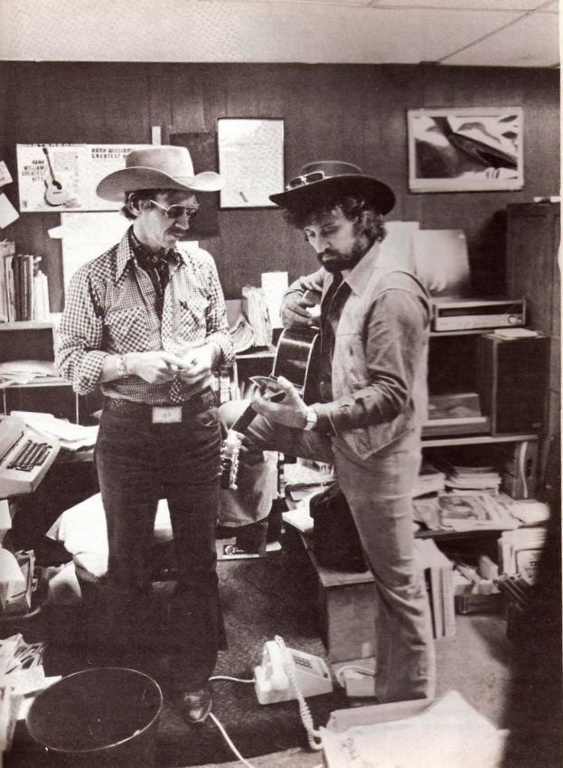 "Tompall with Captain Midnight, Hillbilly Central's ""spiritual advisor."""