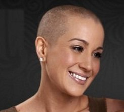 Kellie Pickler shaved her head for Breast Cancer awareness in 2012.