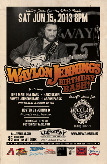 Local Waylon Birthday Bashes Unite For Charitable Cause