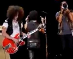 Lenny Kravitz Giving The Double Bird