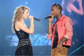 Taylor Swift and B.O.B. have collaborated in the hip hop world. And so have Tim McGraw & Chris Brown.