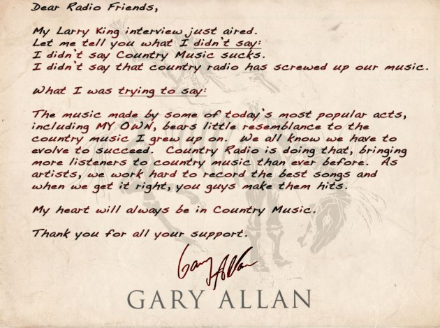 Gary Allan Calls Out Carrie Underwood And Taylor Swift
