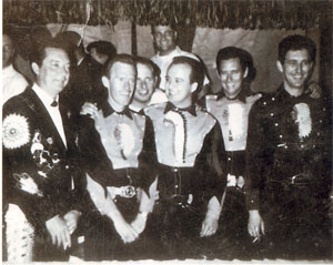 Buddy Emmons on far right, Johnny Bush in the middle