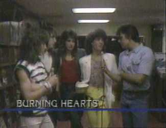 "Scott Borchetta's 80's Glam Metal Band ""Burning Hearts"""