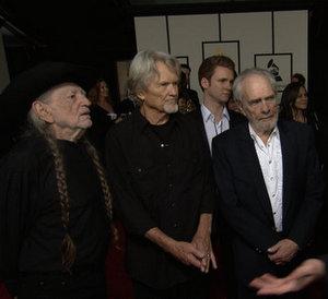 Willie, Kris, & Merle Working on Musketeers Album