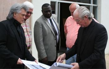 Marty Stuart Meeting with Local Leaders About The Project