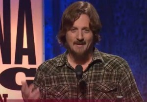Sturgill at the 2014 Americana Music Awards, accepting Emerging Artist of the Year