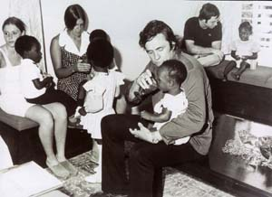 Johnny Cash with Orphans in Jamaica