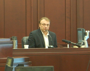 Chris Ferrell testifying earlier in the trial.