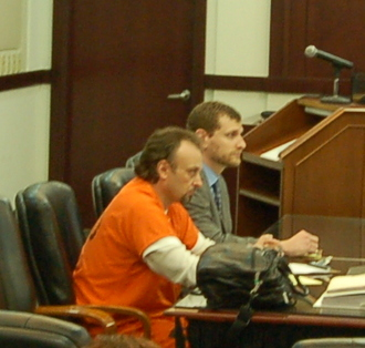 Chris Ferrell at the previous sentencing hearing on April 10th.