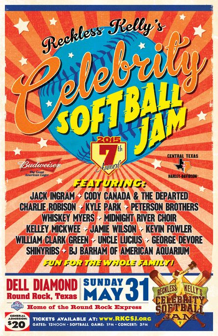 Bases are loaded for Reckless Kelly's Celebrity Softball Jam