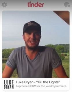"This Luke Bryan Releasing a Video Exclusively Through ""Tinder"" Business"