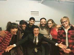 Lake Street Dive with Colbert (from Instagram)
