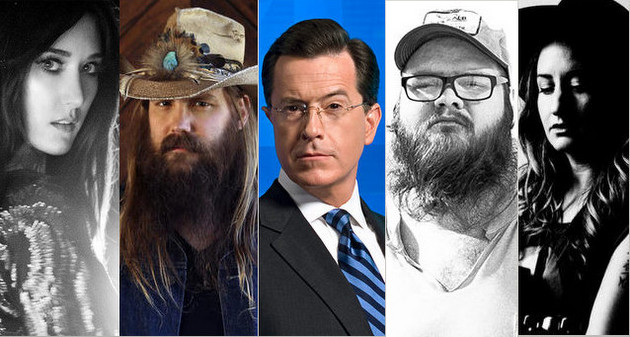 When It Comes To Supporting Cool Roots Artists, Colbert Picks Up Where Letterman Left Off