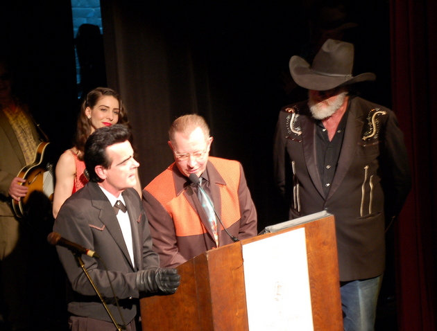 Unknown Hinson with Jim Heath (Revered Horton Heat) and Ray Benson