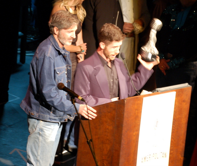Howdy Darrell and White Horse Crew accepting award for Ameripolitan Venue