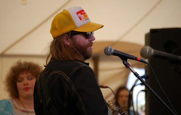 The aroma of marijuana sat heavy under the Revival Tent during Aaron Lee Tasjan's set. (Luck, TX 3/18)