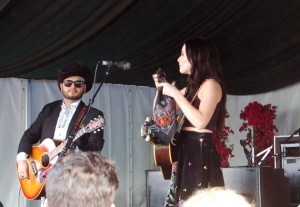 Musgraves with the Bandana from Memphis (matching Kacey's outfit, of course)