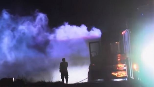 Reverend Horton Heat's Bus Catches on Fire