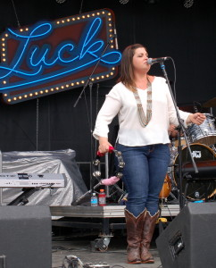 The Black Lillies tore it up on the Luck, TX main stage.