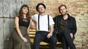 The Lumineers (from left): Neyla Pekarek, Jeremiah Fraites and Wesley Schultz.