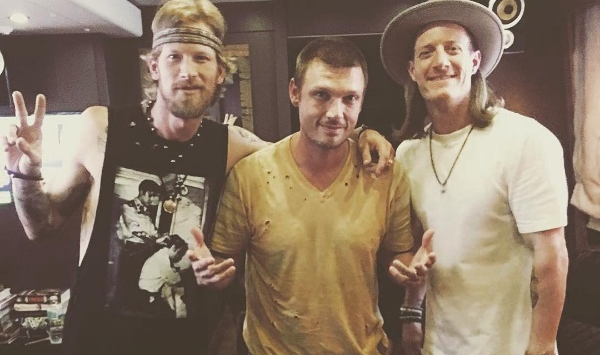 Nick Carter of the Backstreet Boys w/ Florida Georgia Line