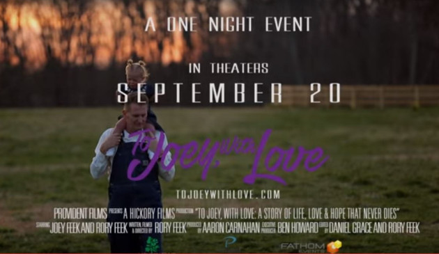 "Rory Feek Announces ""To Joey, With Love"" Film"