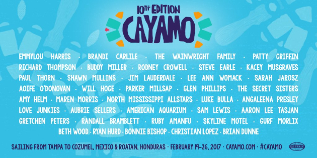 Lineup for 10th Annual Cayamo Cruise Announced