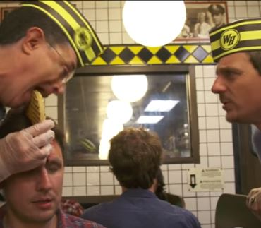 Sturgill Simpson Hangs Out with Stephen Colbert at the Waffle House