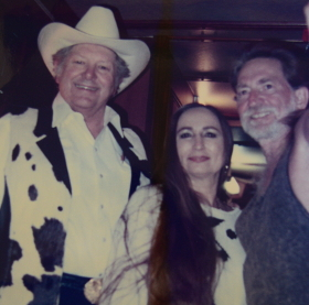 Eddile Pleasant with Bobbie Nelson and Willie Nelson