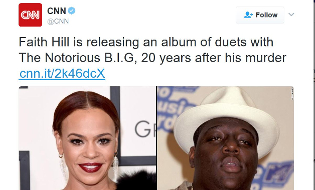CNN Breaks The Internet After Announcing Faith Hill Collaboration with Notorious B.I.G.