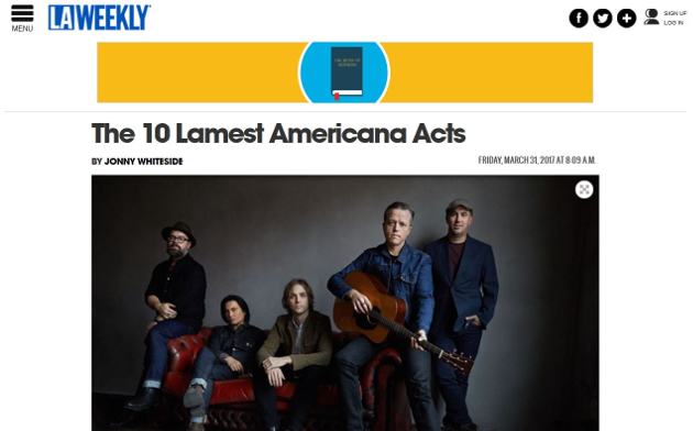 "L.A. Weekly Slams Legacy Americana Artists in ""10 Lamest Americana Acts"" List"