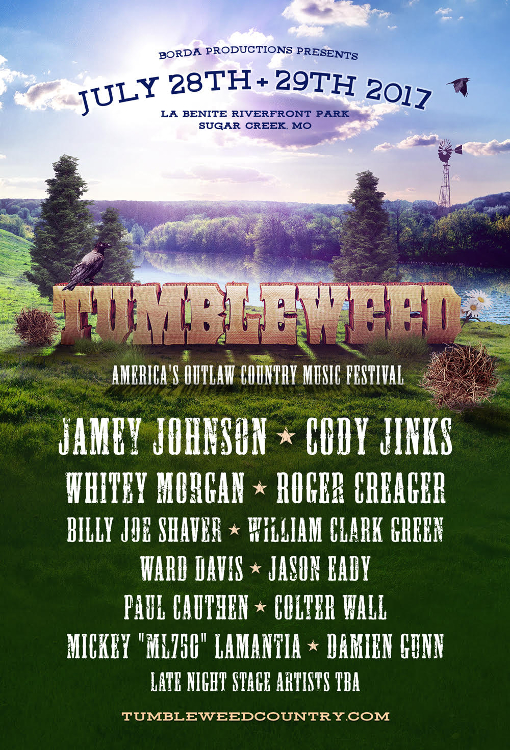 Tumbleweed Festival Announces Jaw Dropping Outlaw Country Lineup for 2017