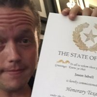 Jason Isbell Named Honorary Texan at Austin Show