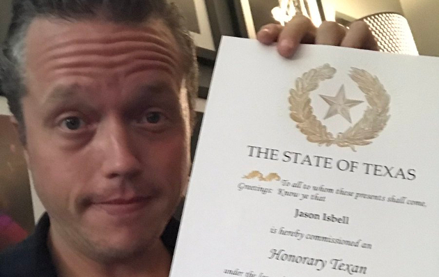 Jason Isbell Named Honorary Texan at Austin Show