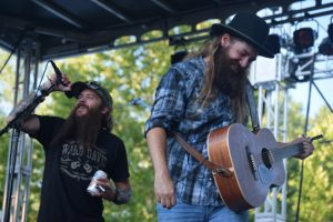 """Cody Jinks surprised Ward Davis on stage when he came out to sing """"I'm Not The Devil."""" The two wrote the song together."""