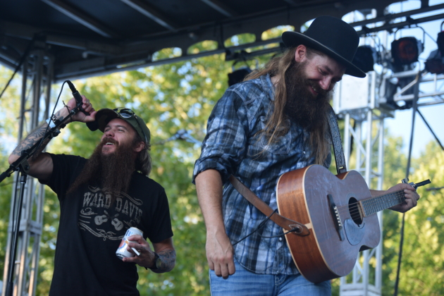 "Cody Jinks surprised Ward Davis on stage when he came out to sing ""I'm Not The Devil."" The two wrote the song together."