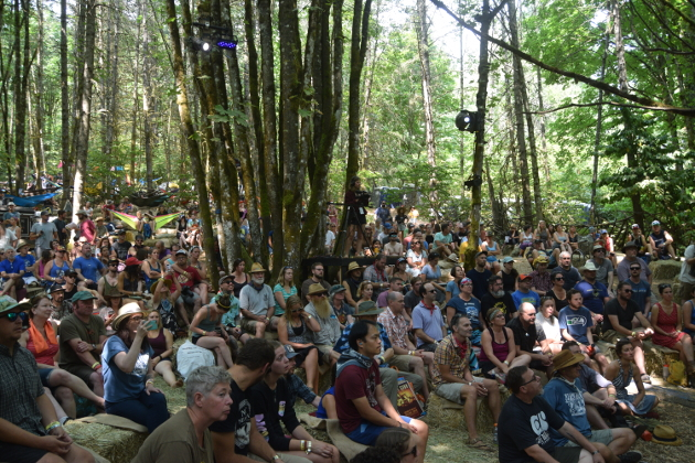 Crowd at the Wood's Stage