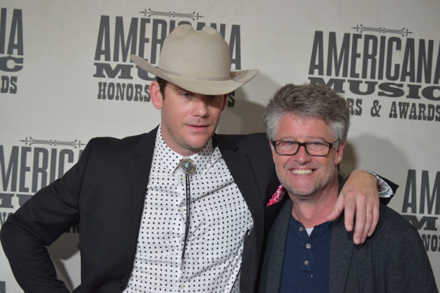 Sam Outlaw with Americana Music Association director Jed Hilly