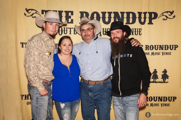 Johnnie Langendorff, girlfriend, owner of The Roundup Robert Saenz, Cody Jinks