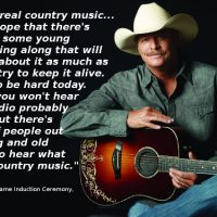 Alan Jackson's Under-Reported Speech at The Country Hall of Fame Induction Ceremony