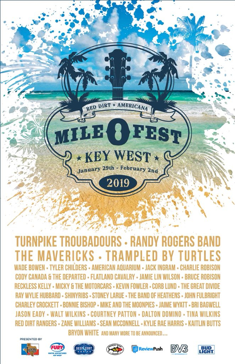 Mile 0 Fest 2019 Poster Saving Country Music